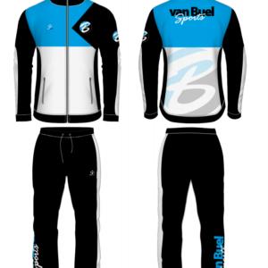 van Buel Sports trainingspak zwart blauw