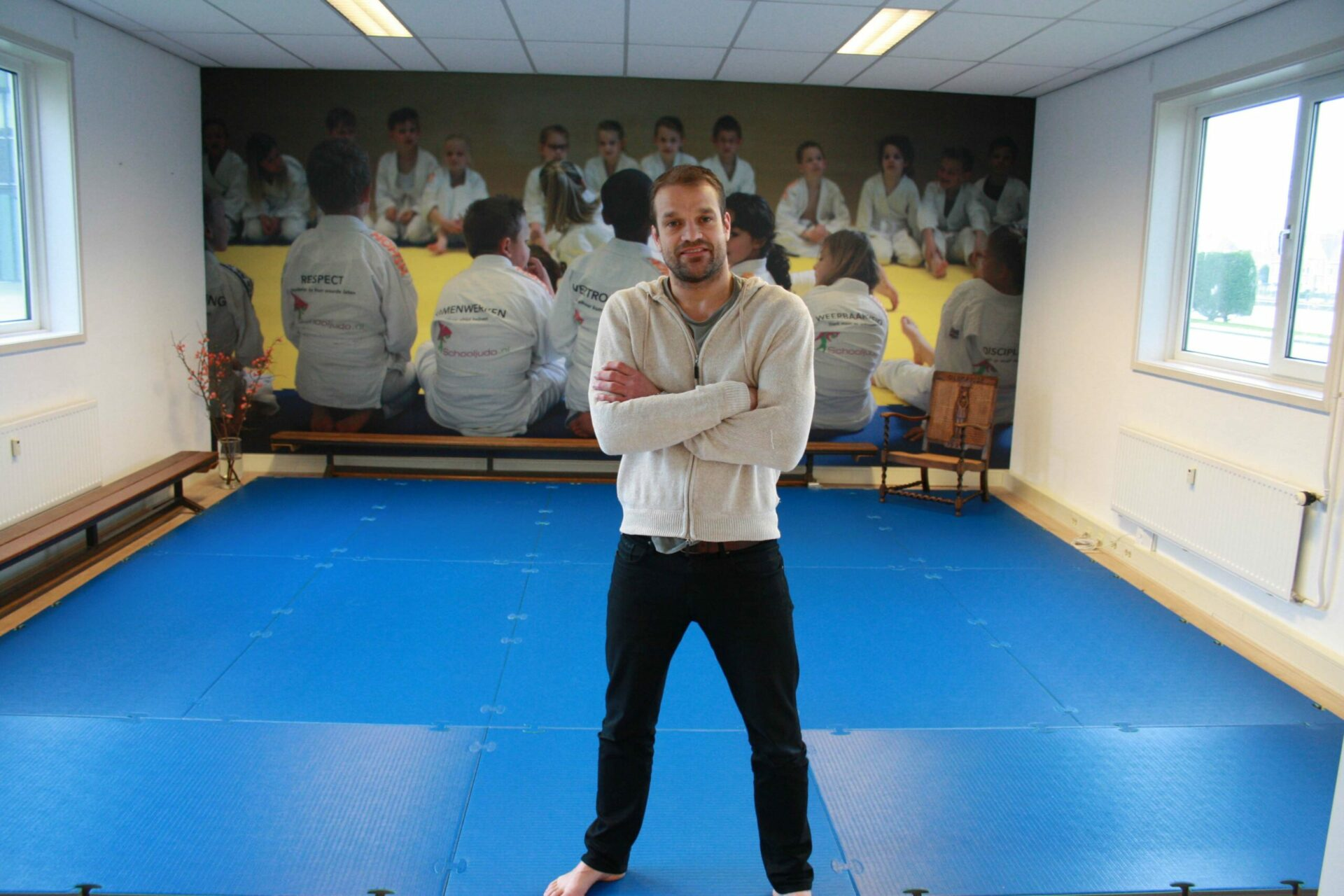 Judomat innovatief Ruben Houkes Schooljudo
