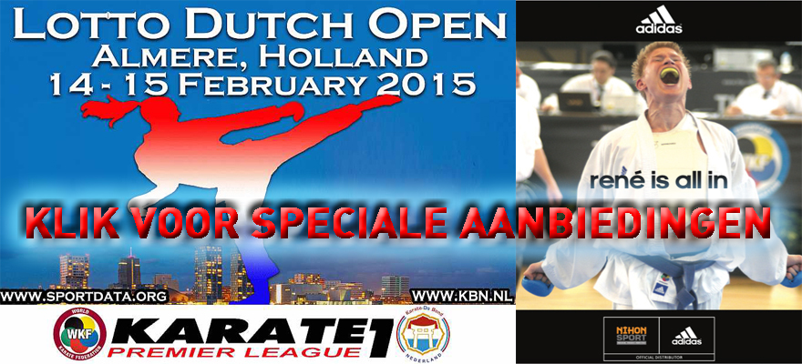 adidas karate1 premier league lotto dutch open aanbieding