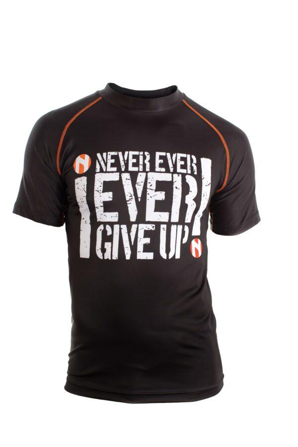 "Nihon Rashguard ""Never Give Up"""