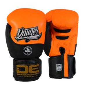 Danger bokshandschoen Evolution | oranje zwart semi leer