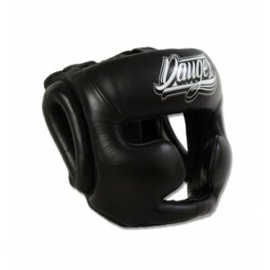 Hoofdbeschermer Danger head guard Pro | semi-leer | zwart