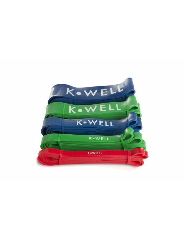 Weerstandsbanden set KWELL | latex |5 verschillende sterktes