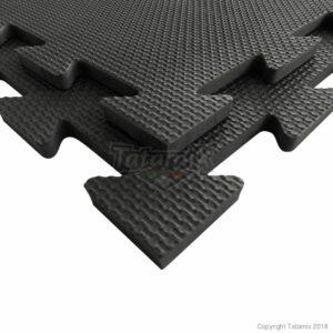 Puzzelmat fitness of boksringen Tatamix | 1 cm | zwart R10S
