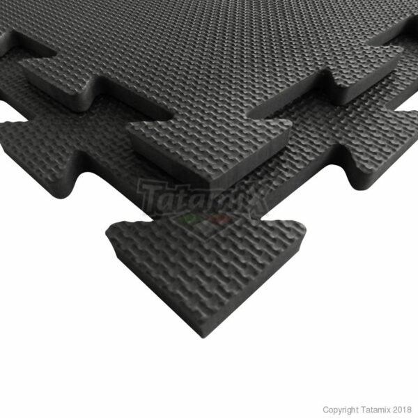 Puzzelmat fitness of boksringen Tatamix   1 cm   zwart R10S