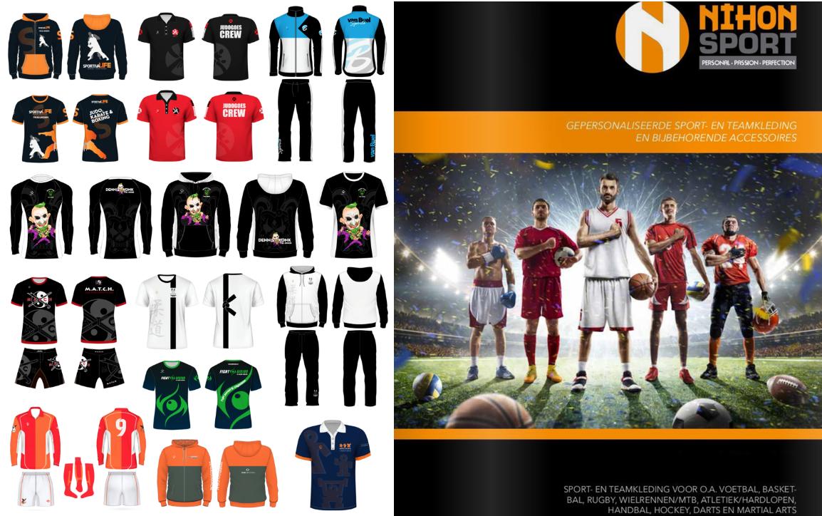 Nieuwe product- en prijslijst 'Ontwerp Sportkleding'