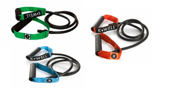 Fitnesselastiek (resistance tube) Kwell | latex | 3 sterktes