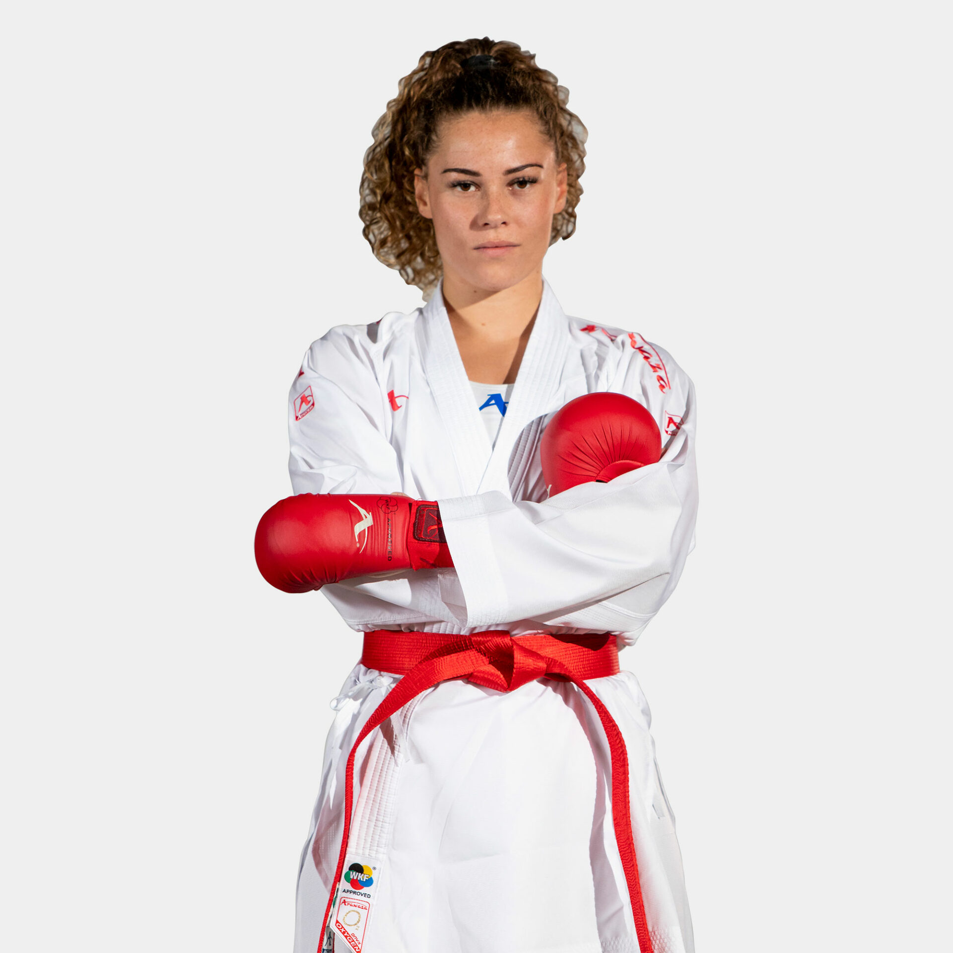 Kumite-karatepak Onyx Oxygen (rood) Arawaza | WKF