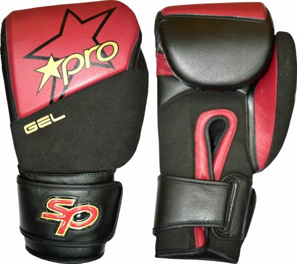 Bokshandschoen Starpro gel | rood-zwart
