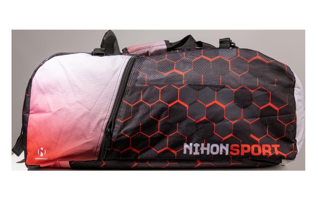 Sporttas en rugzak Honeycomb Nihon | zwart-rood