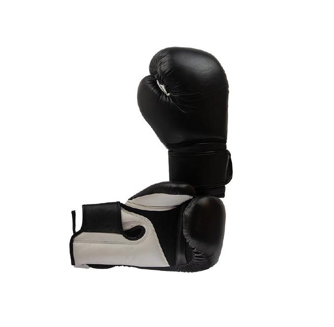 Kickbokshandschoen TK02 Nihon | leer | zwart-grijs