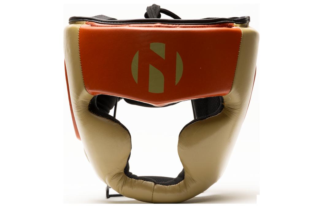 Hoofdbeschermer (head guard) Nihon | leer | bruin